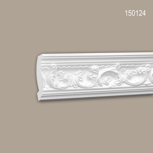 Corniche 150124 Profhome Moulure décorative style Rococo-Baroque blanc 2 m