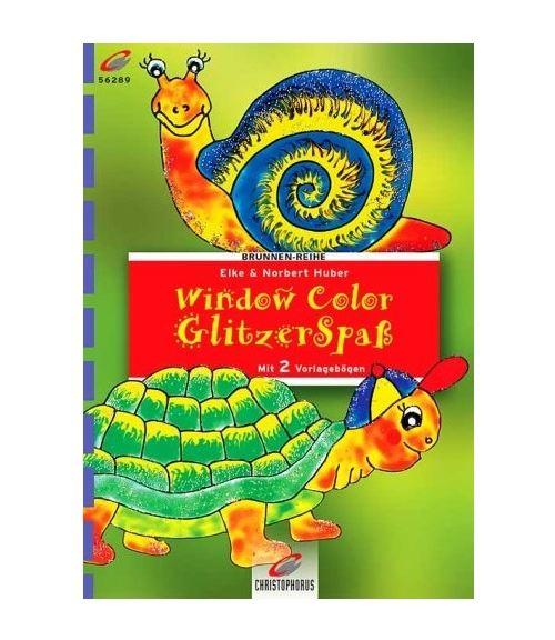 Livre motif window color tortue et escargot - modele peinture fenetre (langue allemand)