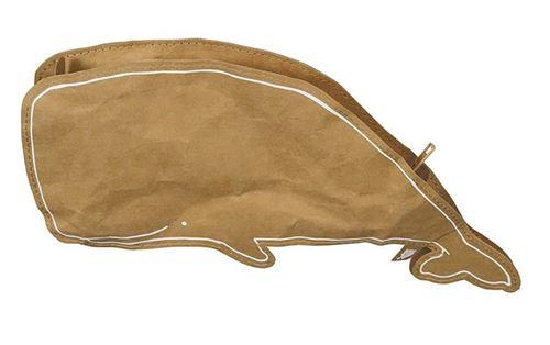 The Zoo caisse Whale27,5 cm de papier recyclé brun