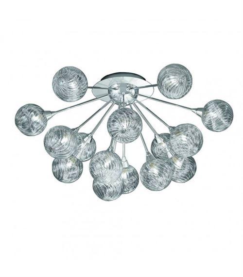 Plafonnier chrome Protea 15 Ampoules