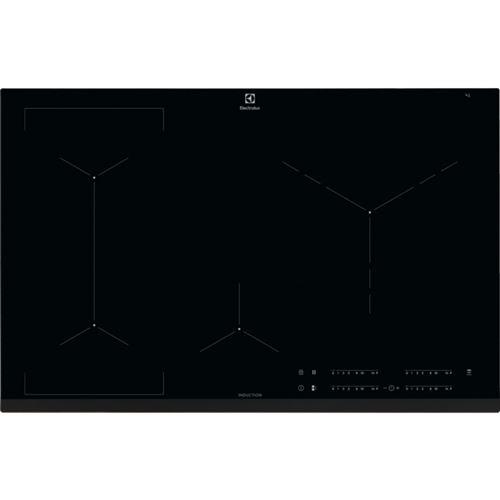 Electrolux EIV83446 - Table de cuisson à induction - 4 plaques de cuisson - Niche - largeur : 75 cm - profondeur : 49 cm - noir - avec avant biseauté