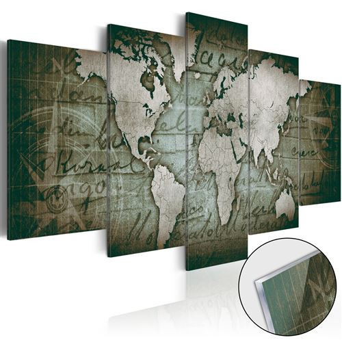 Tableau sur verre acrylique - Acrylic prints – Bronze map III -