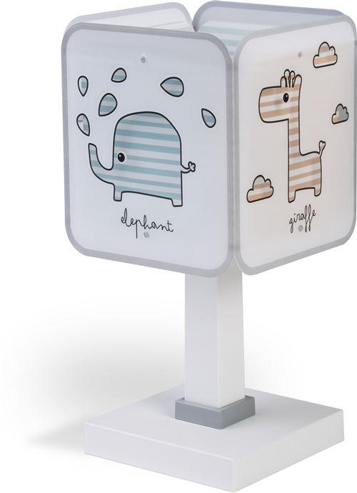 Dalber lampe à poser Baby Zoo 29 cm blanc