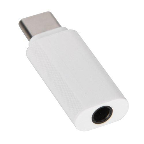 ABS Type-C à 3.5mm Câble adaptateur audio Connecteur adaptateur casque pour Xiaomi 8 (Blanc)