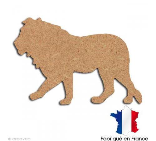 Lion en bois 15 cm