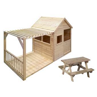 Cabane enfant Margot + table de pique nique en bois - Forest Style ...