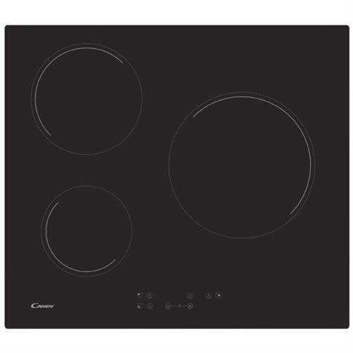 Candy CH63CT/1 - Vitrocéramique - 3 plaques de cuisson - Niche - largeur : 56 cm - profondeur : 49 cm - noir - sans cadre