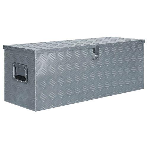 Boîte en aluminium 110,5 x 38,5 x 40 cm Argenté