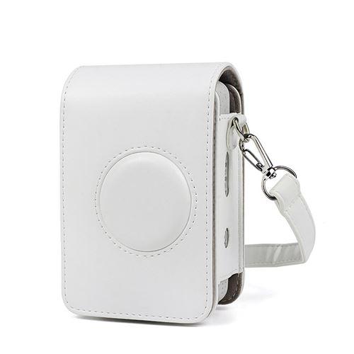 Étui en cuir PU antichoc pour Fujifilm Instax Mini Liplay - Blanc