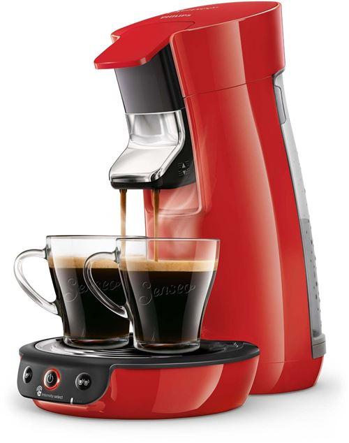 Cafetière à dosette Philips Senseo Viva Café HD6563/81 1450 W Rouge