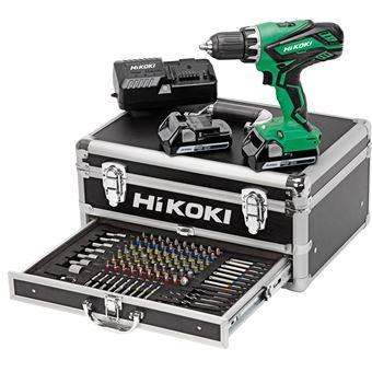 Perceuse visseuse HIKOKI 18V 2.5Ah + 2 batteries, chargeur en coffret - KC18DJLF
