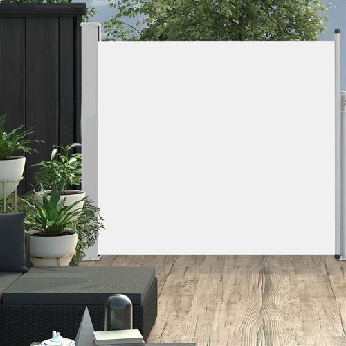 Auvent latéral rétractable de patio 170x300 cm Crème