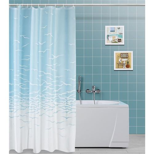Rideau de douche en polyester 120 x 200 cm 187041