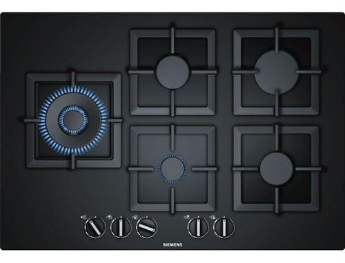 Siemens iQ500 EP7A6SB20 - Table de cuisson au gaz - 5 plaques de cuisson - Niche - largeur : 61 cm - profondeur : 48 cm - noir - avec garnitures noires - noir