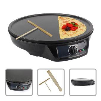 Todeco - Crepe Maker Machine, Crepe Cooker, 4 slotsplaat, Materiaal: Aluminium en bakeliet