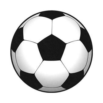 Tapis football ballon - 80 x 80 cm