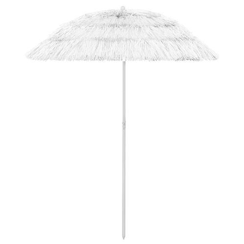 Parasol de plage 180 x 180 cm Blanc