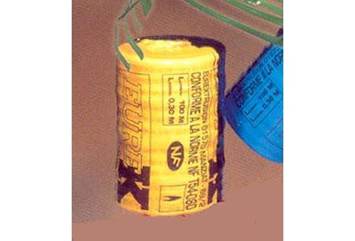 Dispositif avertisseur - Grillage jaune pour le gaz le rouleau de 100 mètres