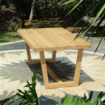 Table en teck Effet recyclé 200 cm Chambord