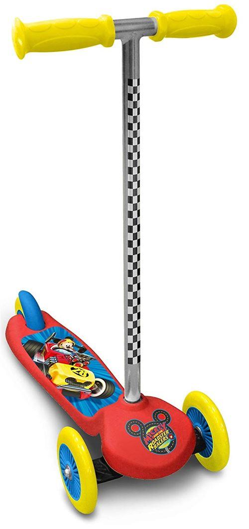 Disney Mickey Mouse 3-wiel kinderstep Marchepied Pour Enfant Junior Frein à pied Rouge/Jaune