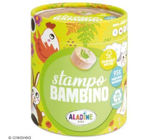 Kit de tampons bois Stampo Bambino - Ferme - 8 pcs