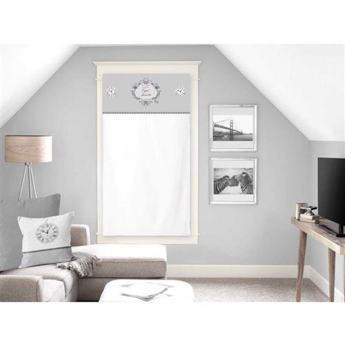 Brise bise en coton 60x120 cm ESPRIT DE FAMILLE blanc, par Soleil d'ocre