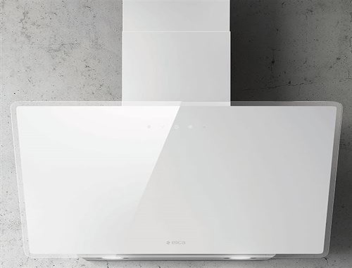 Elica SHIRE WH/A/60 - Hotte - hotte décorative - largeur : 59.8 cm - profondeur : 32.5 cm - extraction et recirculation (avec kit de recirculation supplémentaire) - Blanc verre