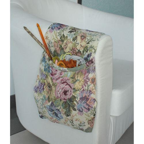 Sac motif tapisserie pour accoudoir de fauteuil