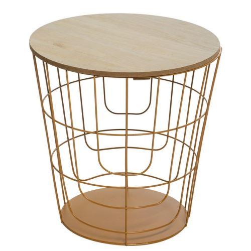 HOMEMANIA Table Basse Creative - pour Canapé, Salon - Orange, Bois en Fer, MDF, 36,3 x 36,3 x 38 cm