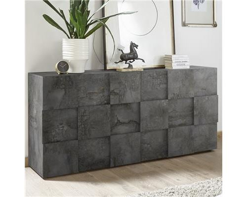 Bahut 3 portes anthracite design DOMINOS 5