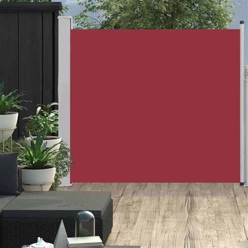 Auvent latéral rétractable de patio 170x300 cm Rouge