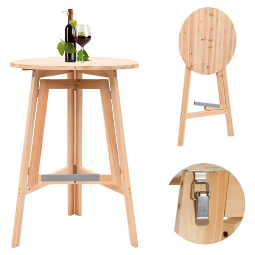 Table de bar pliable 78 cm Bois de sapin