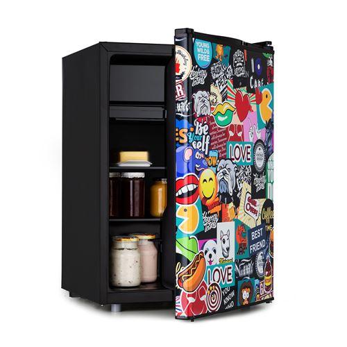 Klarstein Cool Vibe 70+ - Mini réfrigérateur 70 litres, freezer, 42 dB, classe A+ - Noir