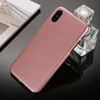 coque iphone x 360 degres protection en verre trempé
