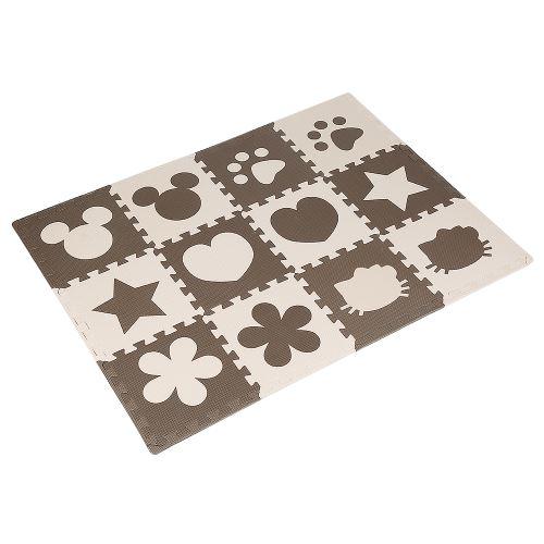 OOBEST® Tapis de Puzzle en Mousse EVA pour Bébé Tapis 32,5cm*32,5cm*10mm Café - 12 Pcs