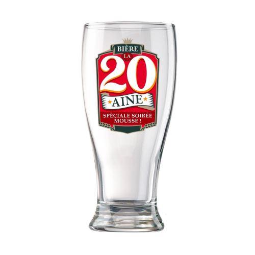 Verre à Bière en Coffret - 20 Ans