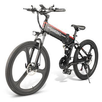 """VTT électrique pliable Samebike LO26 Noir - Pliant, 26"""", 350W, Batterie amovible 10.4Ah"""