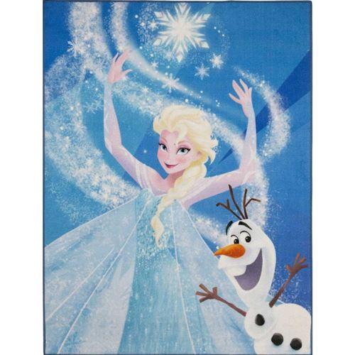 Tapis Elsa La reine des neiges et olaf Disney 95 x 125 cm