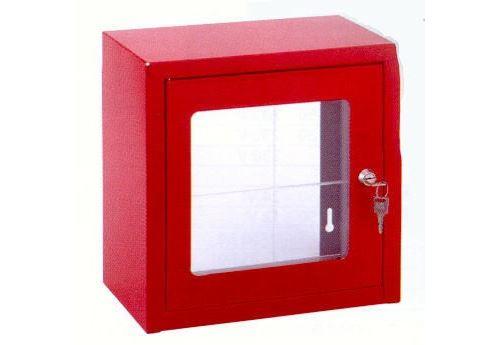 Boitier sous verre dormant - Dimensions : 450 x 450 x 250