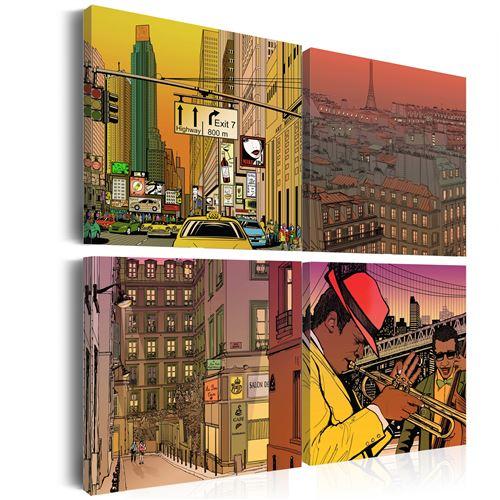 Tableau - Peut être Paris, peut être New york ... - 40x40 -
