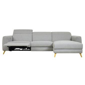 canap dangle droit scandinave relax lectrique kekka gris 4 places achat prix fnac - Canape Electrique Relax
