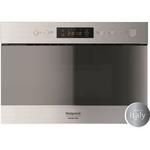 Hotpoint Ariston MN 212 IX HA - Four micro-ondes monofonction - intégrable - 22 litres - 750 Watt - acier inoxydable
