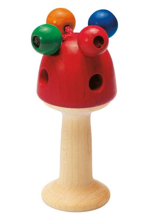Selecta Spielzeug hochet & gobelet 10 Giralocm bois naturel/rouge