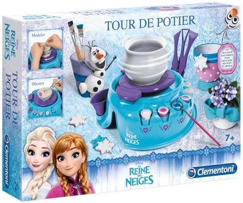 Tour de potier electrique la reine des neiges - disney frozen - jeu creatif fille 7 ans+