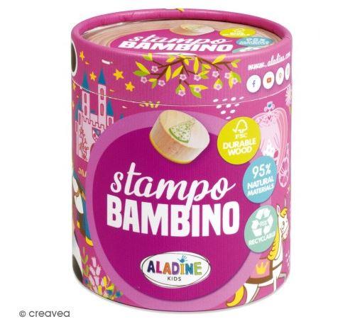 Kit de tampons bois Stampo Bambino - Princesse - 8 pcs