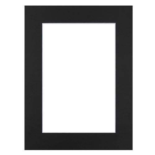 Passe-partout noir 30x40 cm ouverture 20x30 cm, Carton - marque française