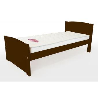 abc meubles lit enfant eden en bois massif couleur weng dimensions 90x190 lit pour enfant achat prix fnac - Lit Enfant 90x190