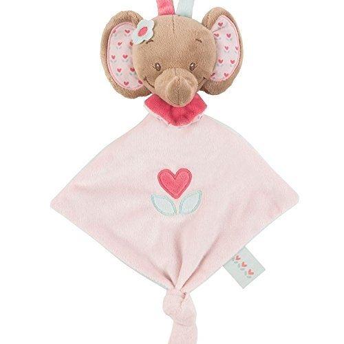 Nattou - mini doudou lélephant rose