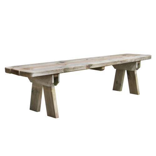 Banc de jardin 4 places en bois traité autoclave, Faro