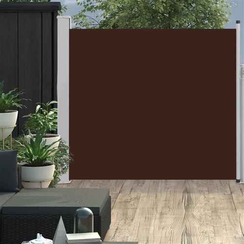 Auvent latéral rétractable de patio 170x300 cm Marron